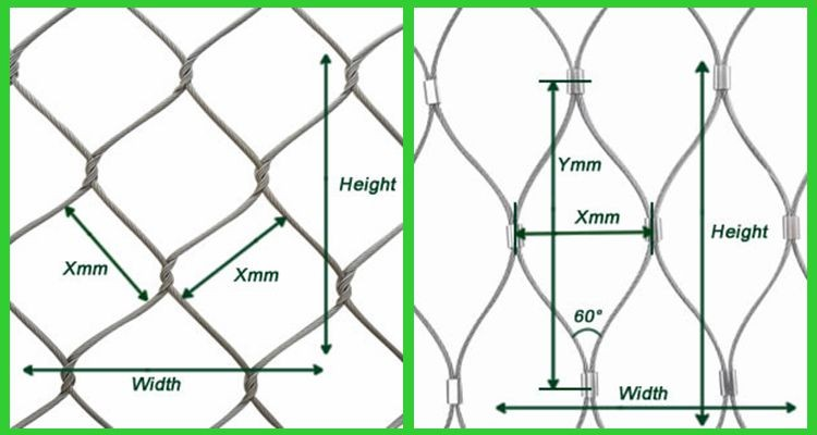 high strength stainless steel wire rope mesh net