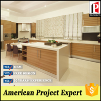 american style hpl panel plywood board kitchen set for dining room