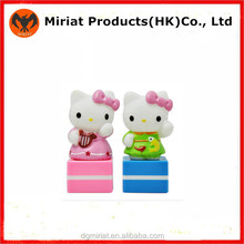 New Design Customized PVC Plastic Kitty Rubber Stamps