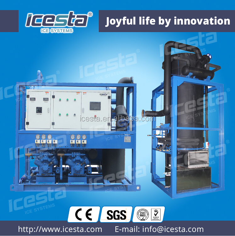 ICESTA water cooled tube ice making plant human consumption tube ice machine wholesale 25t/24hrs