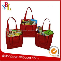 Simple Ecology Organic Cotton Deluxe Grocery Bag with Bottle Sleeves