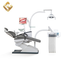 Floor mounted instruments arm LED x-ray viewer advanced dental chair unit