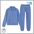 front zipper velour fashion casual cotton velour blue pajarma