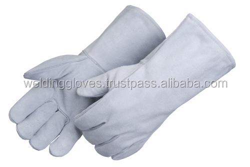 Cowhide Leather Heat Resistant Welding Gloves,Work Gloves - Large ---For Welding/ Fireplace/ Hearth/ Stove/ Grill /Barbecue