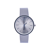 mesh metal band men watch stainless steel brand your name quartz watch