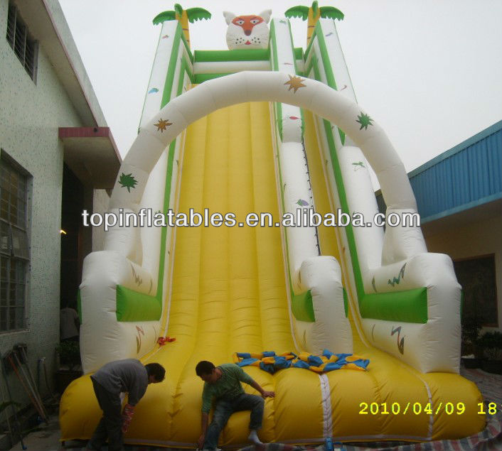 TOP huge inflatable tiger animal slide