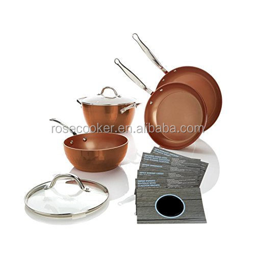 Diamond Series 6-piece Cooking Set, with All Copper Ceramic Coating