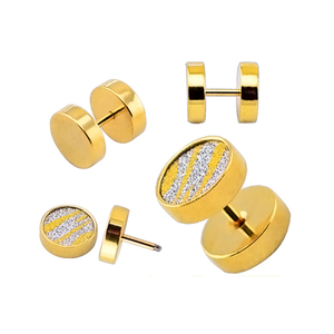 cheap wholesale gold plated stud earrings, fancy gold jewelry stud earring, jewelry making supplies