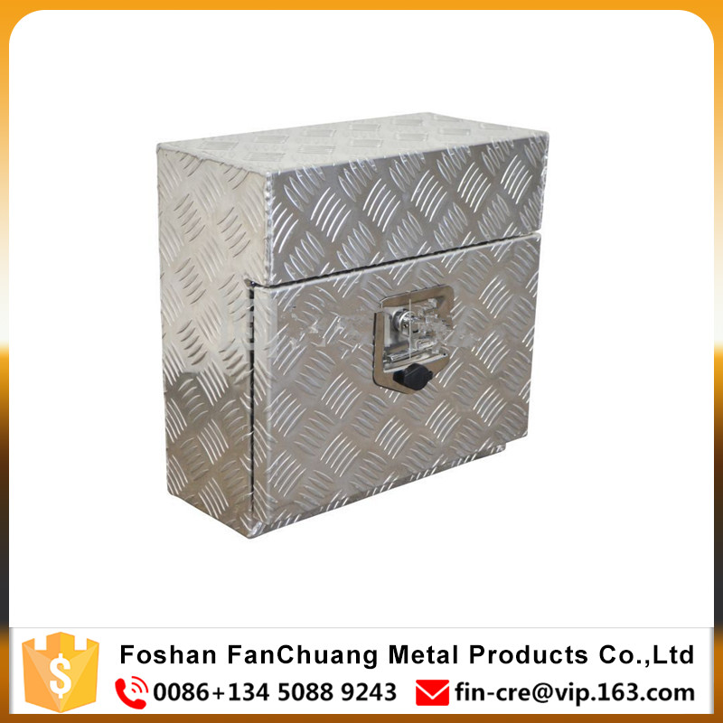 Aluminun Square Under Body Toolbox 430*220*330mm Tool Box Under Tray