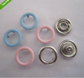 9.5mm Press Studs Snap Fasteners/Popper 9.5mm with Baby Pink or Baby Blue Prongs