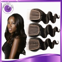 "New Arrival Free Part 3Bundles Brazilian Virgin Hair body wave top lace closure Brazilian Lace Closure 8""-18"" best quality"