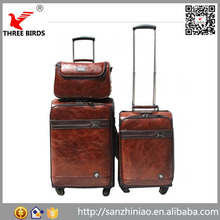 Online shopping make up bags vintage leather travelling luggage set,eminent luggage, trolley luggage bag