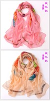 Shanghai silk scarf selling story explosion spot supply and large wholesale ladies scarf
