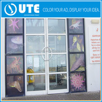 Printed pvc decal custom glossy window film plastic cling decal