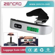 Handy 50kg/0.1kg Capacity Airline Travel Tare Function Hook Smart Digital Hanging Luggage Weighing Scale