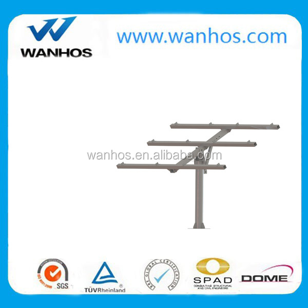 solar panel pole mount bracket system