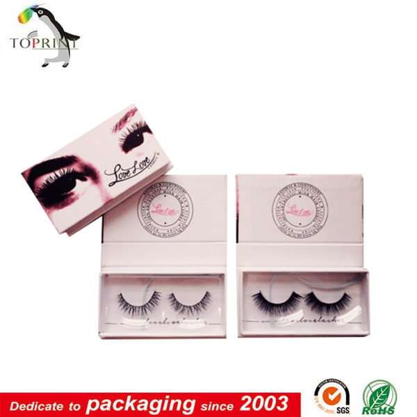 High quality custom false eyelash packaging box packaging brand logo eyelash case