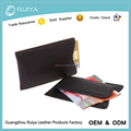 Mens Leather Money Clip Slim Wallet Black Brown Magnet ID Credit Card Holder