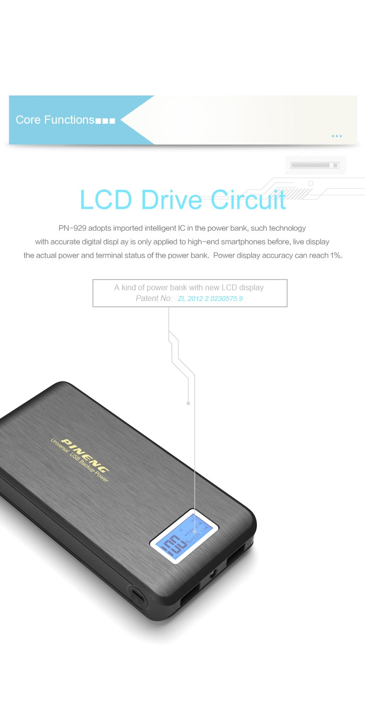 Portable Universal high Capacity Rechargeable Dual USB PowerBank 15000mAh
