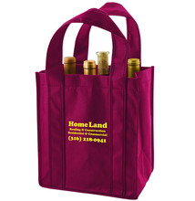 100% Recycled Fabric wine bag for holding 6 bottles