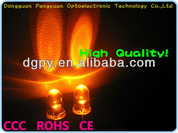 High Quality 5mm orange ( Amber ) led round Shape ( CE & RoHS )