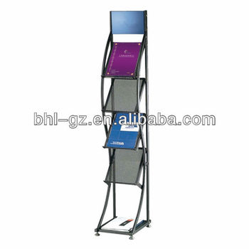 Delicieux Fashion Floor Standing Wrought Iron Magazine Rack Display Rack For Hotel  And Office