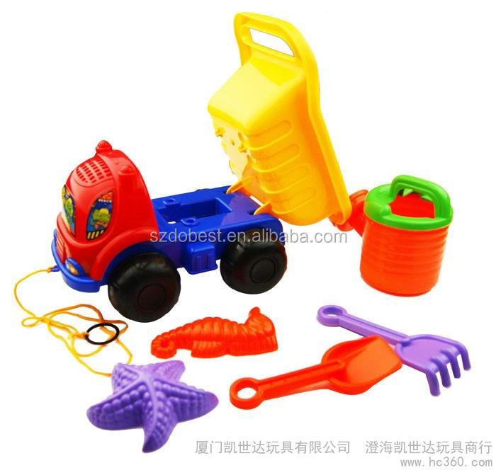 Children sand bucket new beach toys with rake shovel spade series