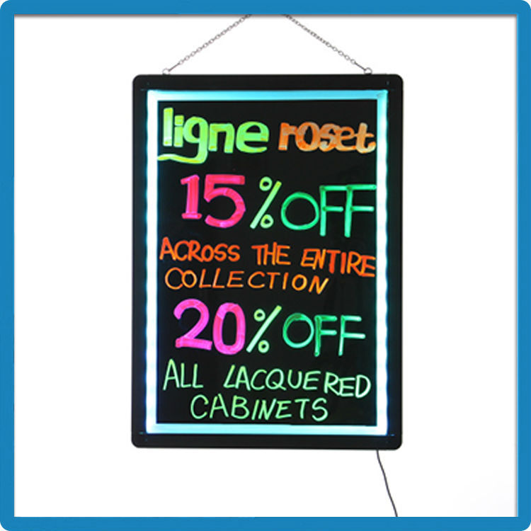 innovative trading business ideas led whiteboard neon sign sidewalk signs writing message board