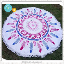 Alli baba com Cotton Fabric Beach Towels Round with Tassle