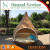 Rattan hanging bed outdoor wicker nest pod swing lounge chair bed