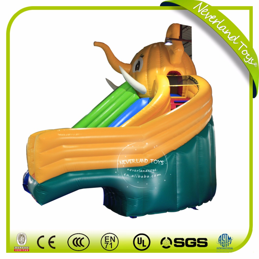 NEVERLAND TOYS dolphin inflatable slide inflatable floating water slid outdoor inflatable slide for swimming pool