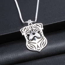2016 Simple Pug Shaped Pendant Necklace Jewelry