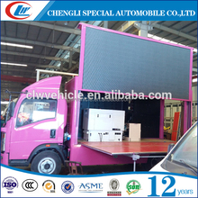 advertising mobile van with LED screen plus scrolling lighting box