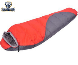 Mummy outdoor sleeping bag double thickening adult camping sleeping bag