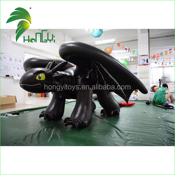 3M Long Double Layer PVC Cartoon Mascot Dragon Costume / Inflatable Toothless Dragon Cartoon Suit With Sexy SPH