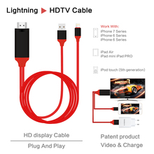 Plug and Play Smart Phone To HDTV HDMI Cable Adapter Transfer Audio MHL Cable For iphone To TV