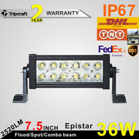"HIGH LUMENS 7.5"" 36WLED LIGHT BAR,36W LED DRIVING LIGHTS,36W OFFROAD LIGHT FOR CAR"