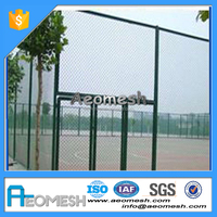 Nature Pressure Treated Wood Type and Metal Frame Material chain link fence