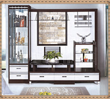 Factory directly sale led tv wall unit / white tv unit / mdf tv unit furniture