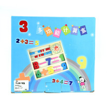 Calculate the Game Box Stickers Count Number Card Clock Maths Operation Learning Board Easel Educational Wooden Mathematics Toys