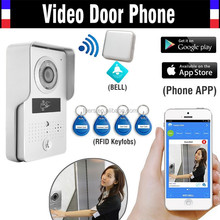 Wholesale New Color Video Door Phone Intercom Entry System + Outdoor RFID Keyfobs Doorbell Camera