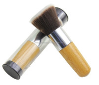wooden handle kabuki powder brush