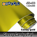 New arrival 1.52*20cm pvc material candy color glossy car warp vimyl for color changing