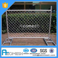 Strong metal fence panel used temporary fence