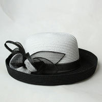 New Design Free Sample Cheap Sinamay Wedding Hat