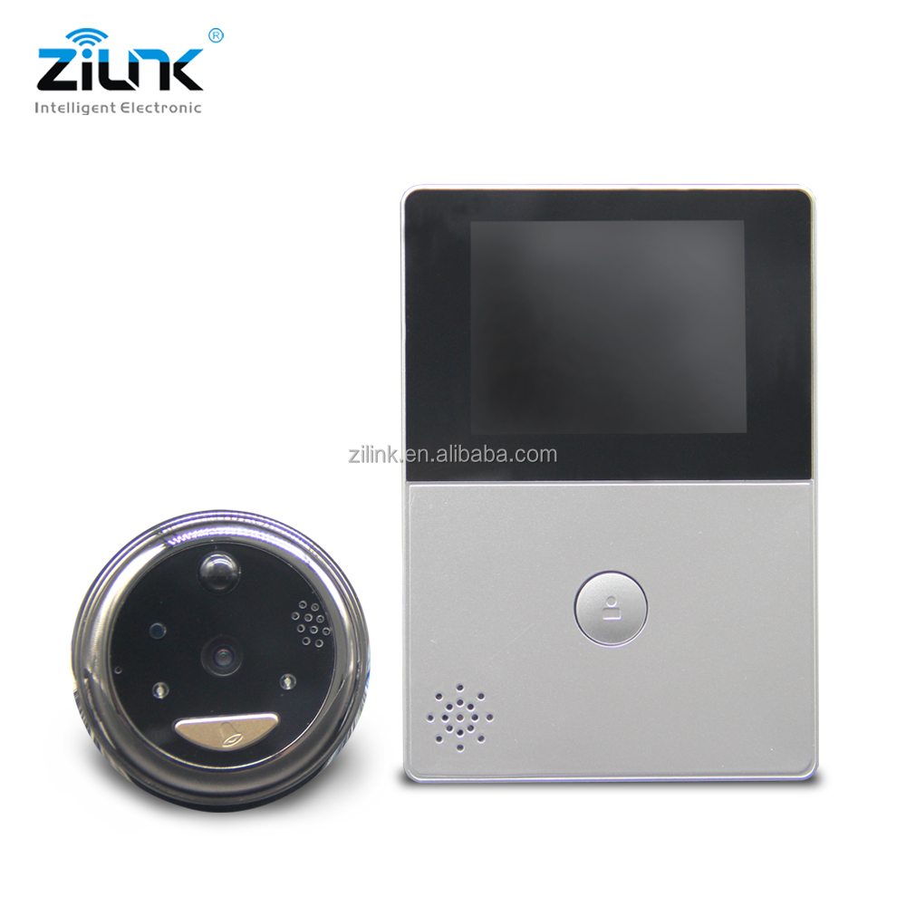 Door peephole camera wireless PIR motion detection HD 720p video doorbell with monitor