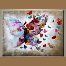 Wholesale Handmade Modern butterfly canvas painting