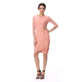 Middle Sleeve Front Vent Spring Soft Lace Lady Dress Fashion Thailand