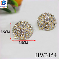 The heavy gold hemispheric rhinestone beads jewellery designs DIY diamond for lady shoes and handbag