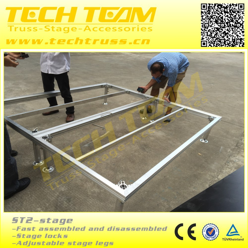 Adjustable legs portable stage set up ST2 decoration stage